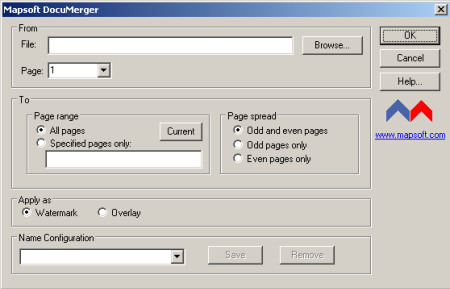 Documerger plug-in for Adobe® Acrobat® main window